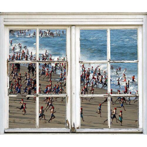 queence Wandsticker »Kinder am Strand«