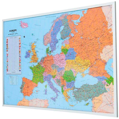 Schneider Pinnwand, Memoboard, aus Kork, Motiv Weltkarte, bunt