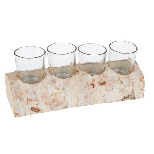 VBS Teelichthalter »Birkenstam«, für 4 Teelichter