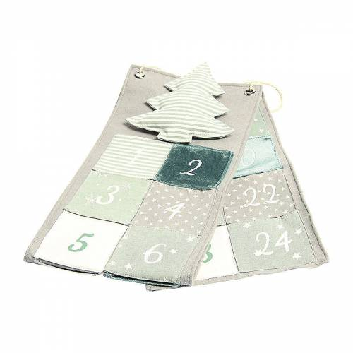 Hotex Wandkalender »Adventskalender Tannenbaum grün/grau«