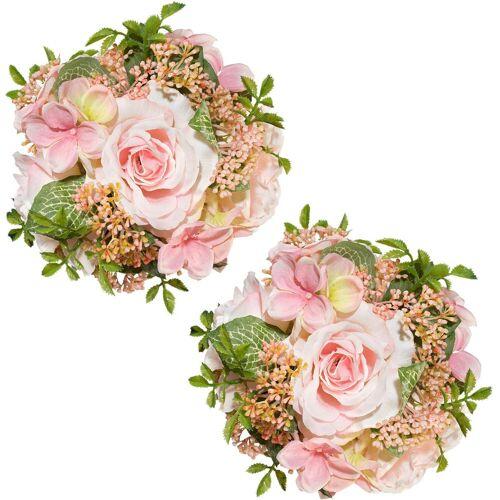 Creativ green Kunstblume Kunstblume, , Höhe 15 cm, rosa