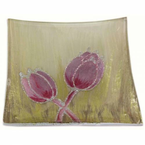 HTI-Living Dekoteller »Dekoteller Tulpe Rosa« (1 Stück)
