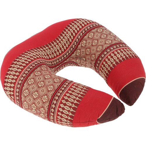 Guru-Shop Sitzkissen »Nackenkissen, halbrunde Thai Nackenstütze,..«, rot
