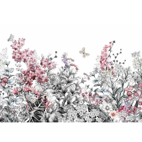 living walls Fototapete »Blumenwiese Vlies«, glatt, (1 St), 350 x 255 cm