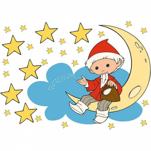 Sandmännchen Wandtattoo »Wandtattoo , Mond und Sterne, 25-tlg.«