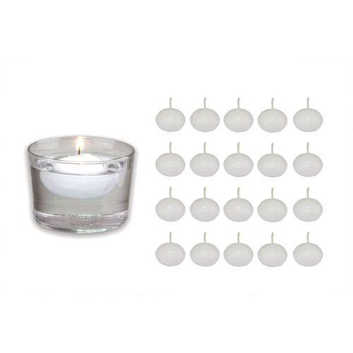 Bolsius Schwimmkerze »20er Set weiß Kugel Deko Teich Wasser Kerzen schwimmend Teelichter aus Wachs 4,5cm«