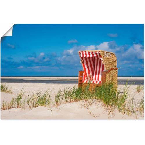 Artland Wandbild »Strandkorb 337«, Strand (1 Stück)