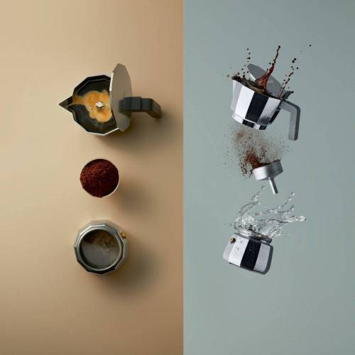 Alessi Espressokocher Espressokocher MOKA modern 6, 0.3l Kaffeekanne