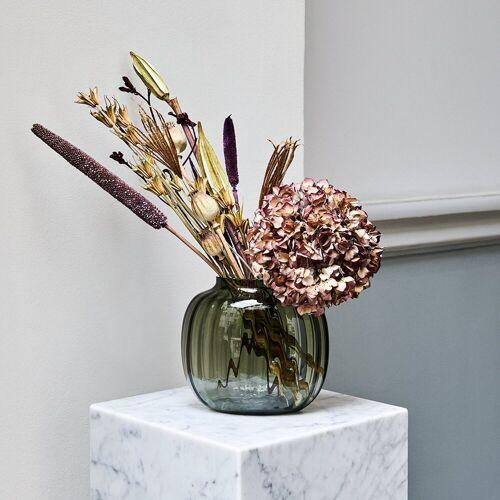 Holmegaard Tischvase »Ovale Vase PRIMULA 17.5 cm, smoke«, Ovale Öffnung B 5 cm x L 9 cm
