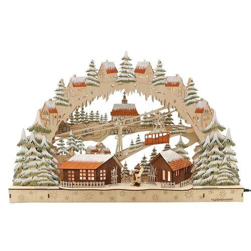 SIGRO Schwibbogen »Holz Schwibbogen Skifahrer«, Schwibbogen