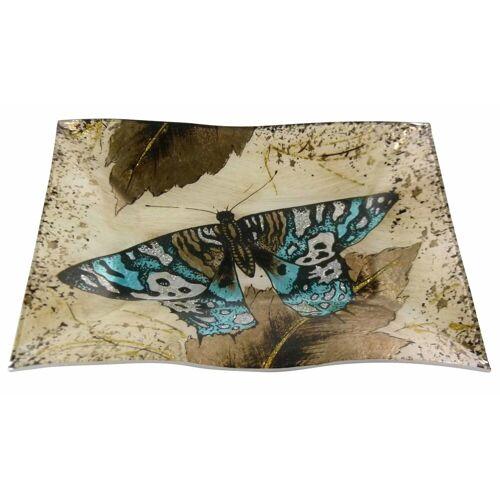 HTI-Living Dekoteller »Dekoteller Butterfly Gold Welle« (1 Stück)