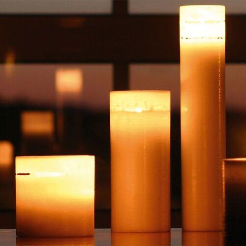 Amabiente Kerzenhalter »Kerze COCOON 10x10 cm«, kaffeebraun