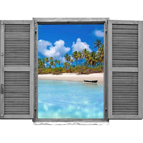 queence Wandtattoo »Strand mit Palmen« (1 Stück)