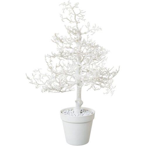 Kunstbaum »Hainbuche«, Höhe 44 cm, mit Glitter, weiß