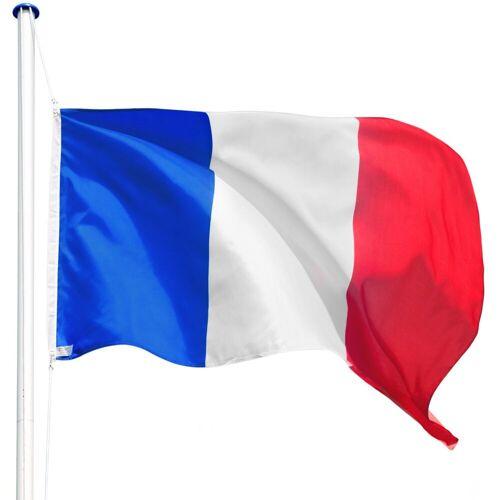 tectake Fahne »Aluminium Fahnenmast«, Frankreich