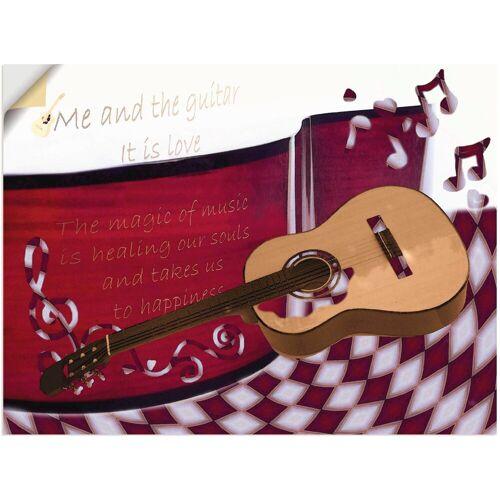 Artland Wandbild »Die Gitarre und Ich«, Instrumente (1 Stück)