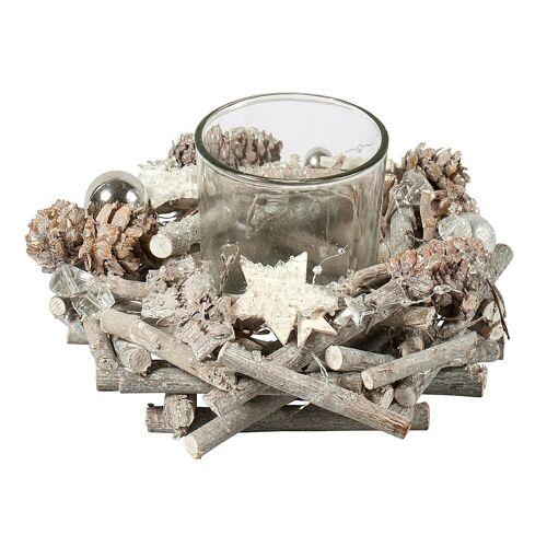 HTI-Living Teelichthalter »Teelichthalter Holz Sterne«