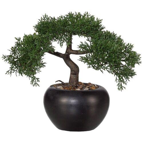 Creativ green Kunstpflanze »Bonsai Zeder«, , Höhe 26 cm, Höhe 26 cm