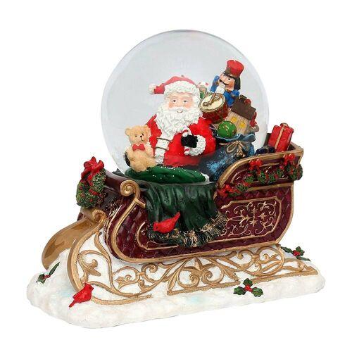 SIGRO Schneekugel »Schneekugel XXL Schlitten mit Santa«