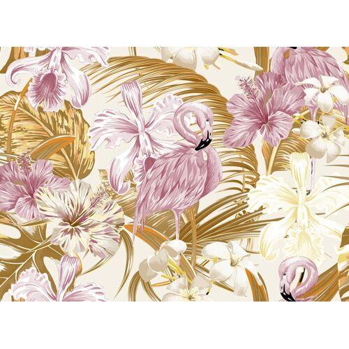 living walls Fototapete »Designwalls Flamingo Art 2«, glatt, (5 St)