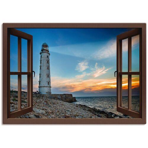 Artland Wandbild »Fensterblick Leuchtturm«, Fensterblick (1 Stück)