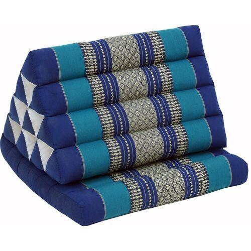 Guru-Shop Sitzkissen »Thaikissen, Dreieckskissen, Kapok, Tagesbett..«, blau