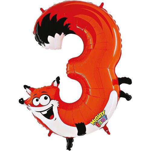 Karaloon Folienballon »Ballon Zahl 9 Gecko«, orange