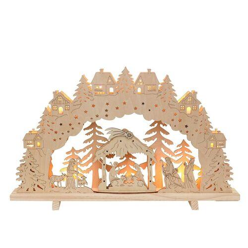 SIGRO Schwibbogen »Holz Schwibbogen Krippe«, Schwibbogen