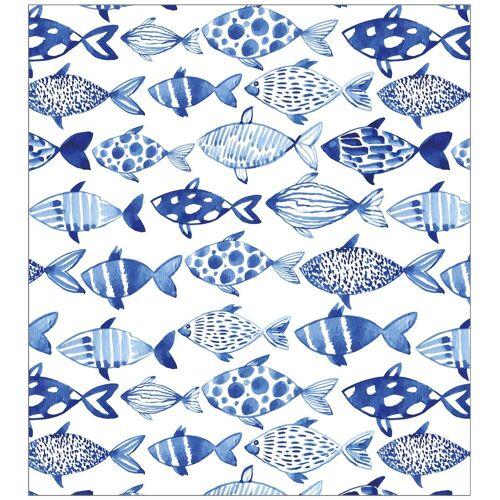 MySpotti Fensterfolie »look Shoal«, 90 x 100 cm, statisch haftend, weiß/blau
