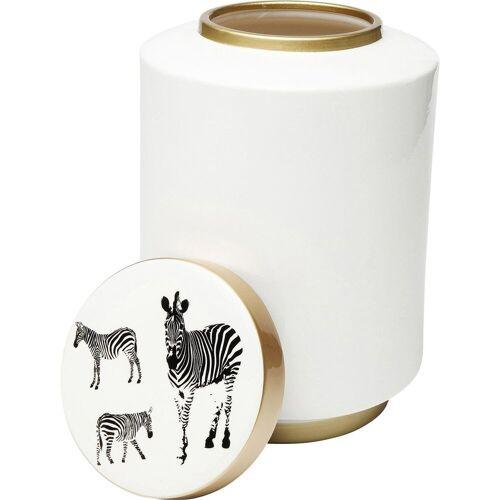 KARE Kiste »Deko Gefäss Zebra weiß 33cm«