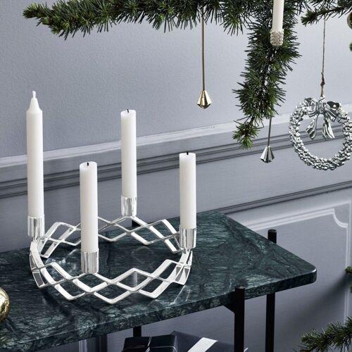 Rosendahl Kerzenhalter »Kerzenhalter Adventskranz, versilbert«