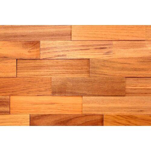Wodewa Set: Verkleidungspaneel »200 - Teak«, 3D-Effekt, 1 m², braun