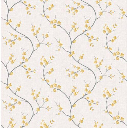 ART for the home Vliestapete »Blumen - Solace«, (1 St), Gelb - 10m x 53cm
