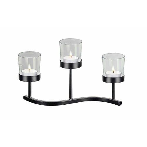 HTI-Living Teelichthalter »Kerzenhalter mit 3 Teelichtgläsern«