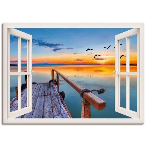 Artland Wandbild »Fensterblick - vom Pier«, Fensterblick (1 Stück)