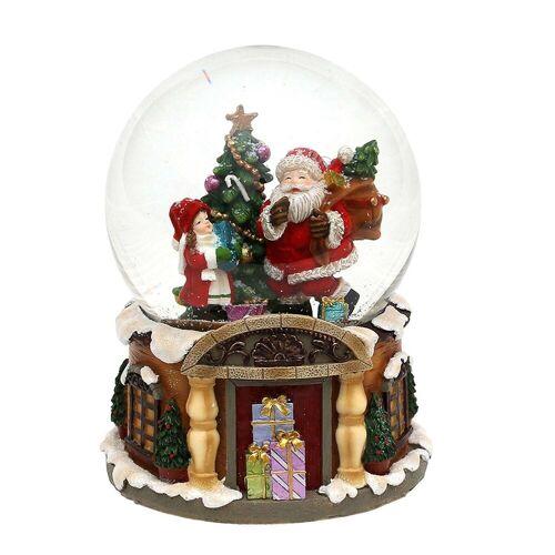 SIGRO Schneekugel »Schneekugel Santa mit Kind«
