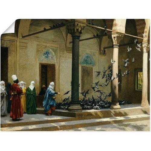 Artland Wandbild »Haremsdamen beim Tauben füttern.«, Gruppen & Familien (1 Stück)
