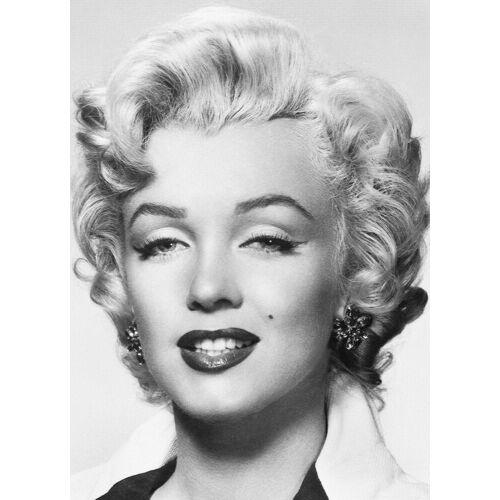Idealdecor Fototapete »Marilyn Monroe«, 4-teilig, 183x254 cm, schwarz/weiß