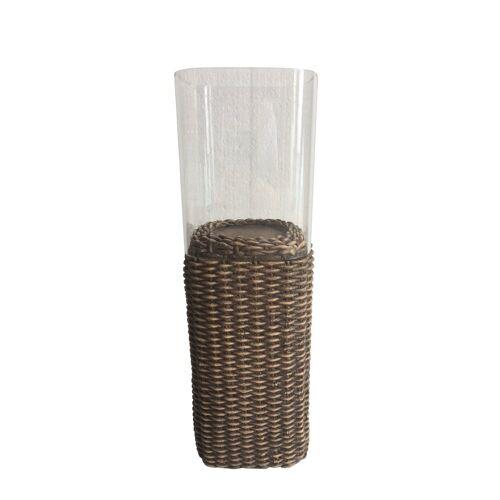 HTI-Line Dekofigur »Teelichthalter Rattan« (1 Stück), Öllampe