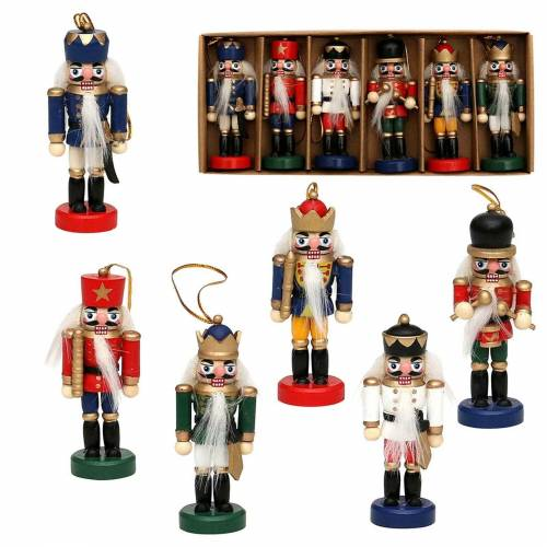 SIGRO Weihnachtsfigur »Holz-Nussknacker 6er Set« (6 Stück)