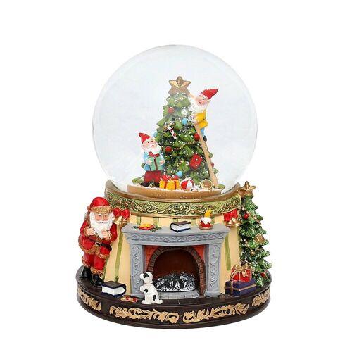 SIGRO Schneekugel »Schneekugel Santa am Kamin«
