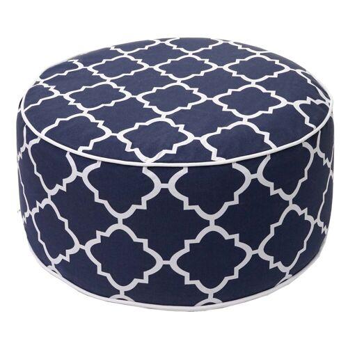 MCW Sitzkissen »-G31«, Bezug abnehmbar, Aufblasbares Kissen wasserfest/wasserdicht, Outdoor geeignet, blau-weiß