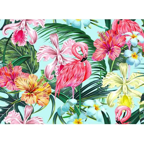 living walls Fototapete »Designwalls Flamingo Art 1«, glatt, (5 St)