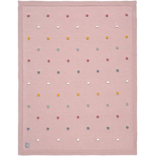 Lässig Kinderdecke »Kuscheldecke mit Pünktchen, mint«, , rosa