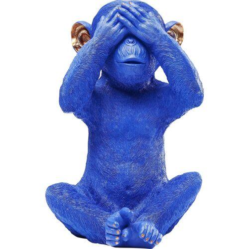 KARE Spardose »Spardose Monkey Mizaru blau«