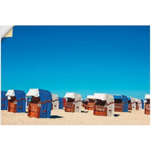 Artland Wandbild »Strandkörbe am Strand von Warnemünde«, Strand (1 Stück)