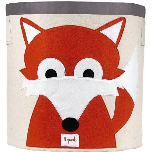 3 Sprouts Aufbewahrungsbox »Aufbewahrungskorb Waschbär, 45 x 43 cm«, orange
