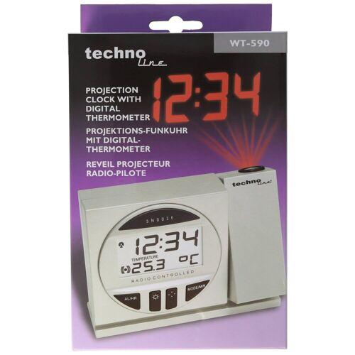 AccuCell Kinderwecker »Funkwecker WT 590 mit Projektion der Uhrzeit z.B.«