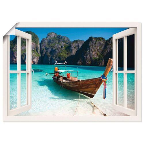 Artland Wandbild »Fensterblick Maya Bay Koh Phi Phi Leh«, Fensterblick (1 Stück)