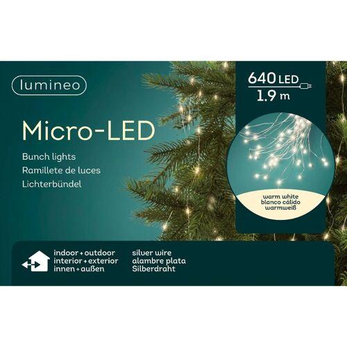 Lumineo LED-Lichterkette »Micro-LED 640 LED's 1,9 Meter Stränge«, 5 Meter Kabel, outdoor & indoor